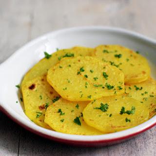 Sea Scallops with Saffron Potatoes