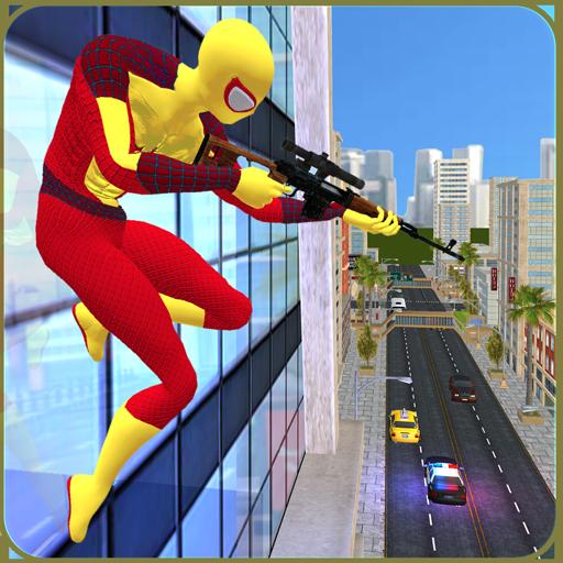Super Spider Sniper Hero Vs Mad City Mafia Battle 1.5 APK MOD