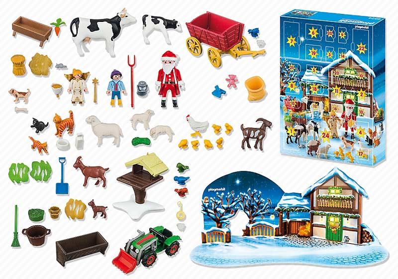 """Contenido real de Playmobil® 6624 Calendario de Adviento """"Navidad en la Granja"""""""