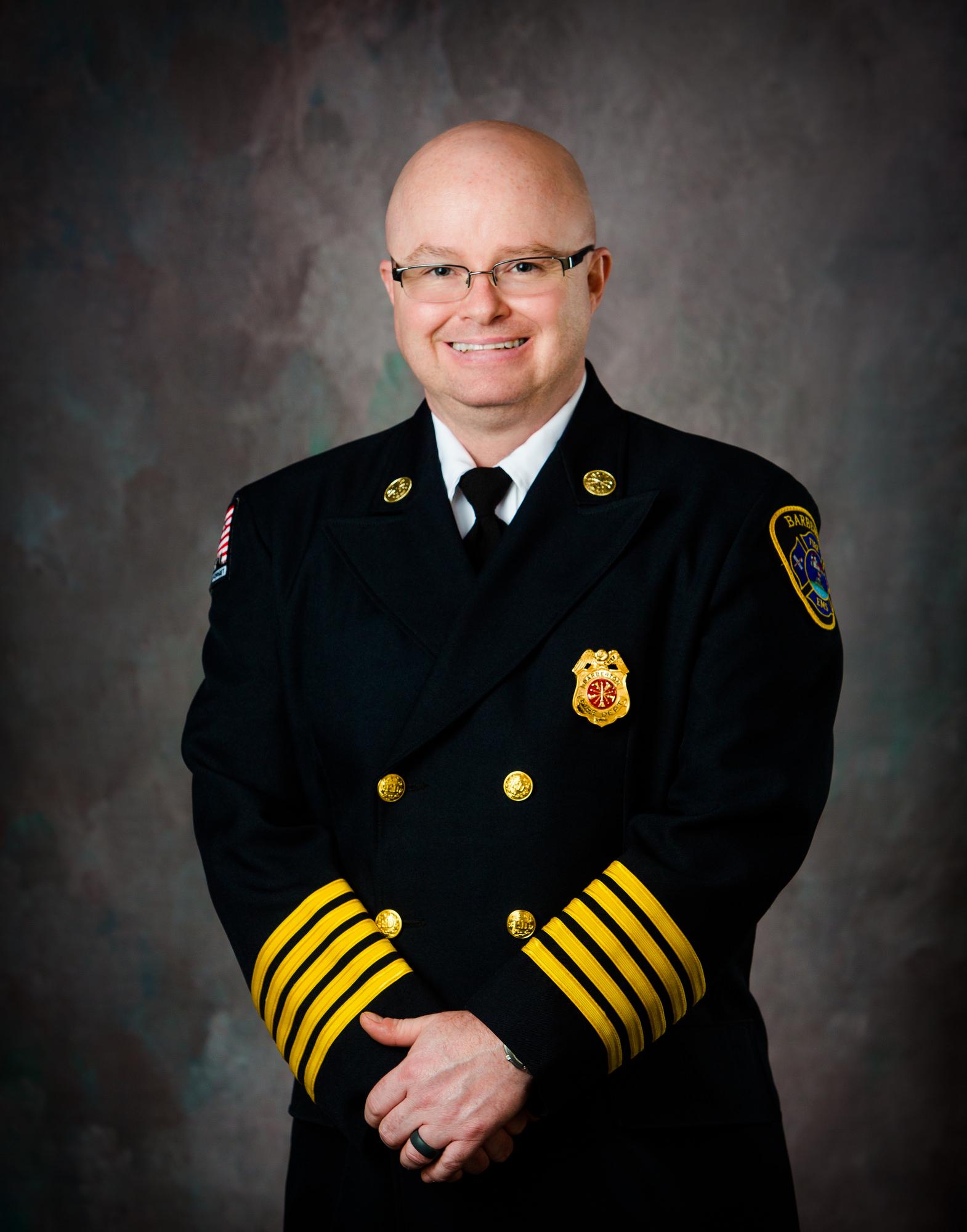 A photo of Fire Chief Robert Pursley in uniform