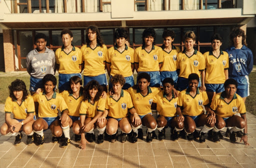 First Brazilian women's football national team at Granja Comary