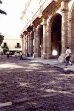 Photo: #012-La Havane-Les pavés en bois