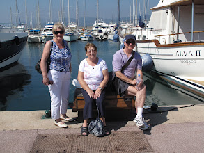Photo: Sheila Henry, Phyllis Hamilton and Ken Haslet sight-seeing St. Tropez