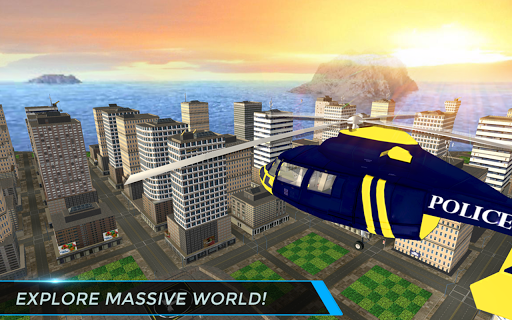 Real City Police Helicopter Games: Rescue Missions 4.0 screenshots 7