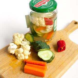 Quick Veggie Pickles.