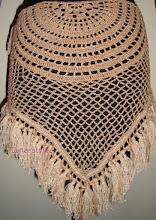 Photo: вязаный платок-сетка для тренеровок