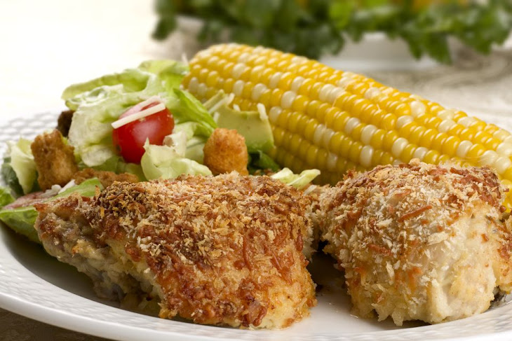 Oven Fried Chicken Thighs with Panko Crumb Coating Recipe