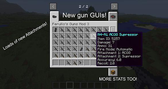 мод на оружие для minecraft 1.7.2 ferullo s guns
