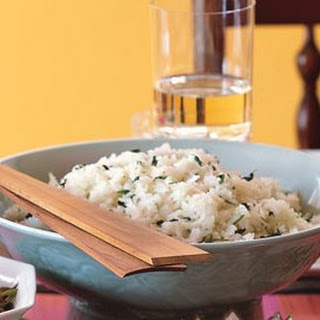 Jasmine Rice with Garlic, Ginger, and Cilantro.