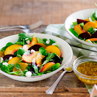 Roasted Beet and Peach Salad