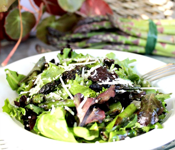 Grilled Asparagus Salad with Hemp Hearts Recipe