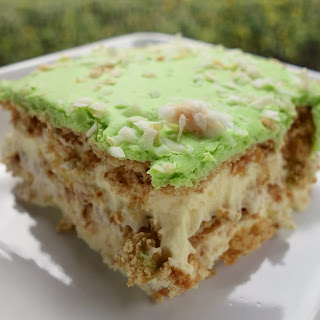 Key Lime Coconut Eclair Cake