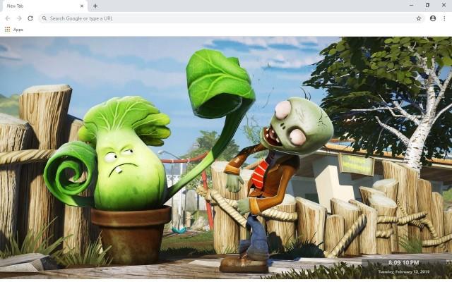 Plants vs Zombies 2 Garden Warfare New Tab