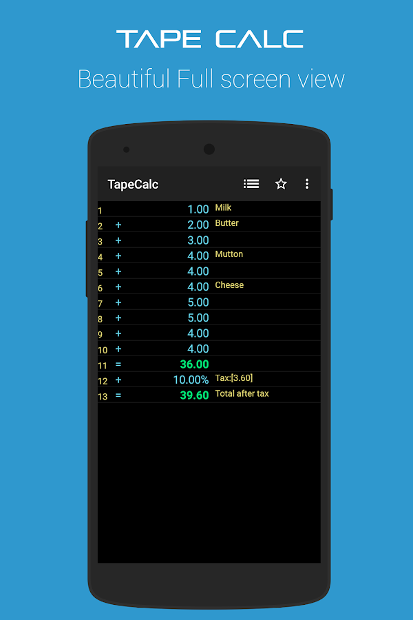 TapeCalc- screenshot