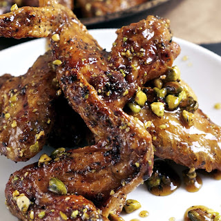 Honey Baked Pistachio Wings.