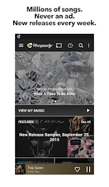 Rhapsody Music Player Screenshot 1