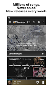 Rhapsody Music Player- screenshot thumbnail