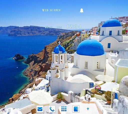 Santorini, Greece +HOME Theme 1.0.0 Windows u7528 1
