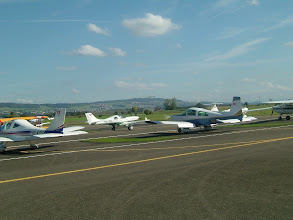 Photo: A lot of small airplanes visit Birrfeld daily http://www.swiss-flight.net