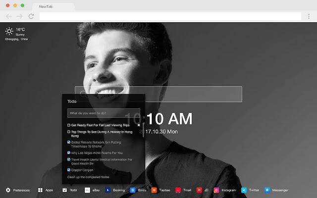 Shawn Mendes HD New Tabs Pop Stars Themes