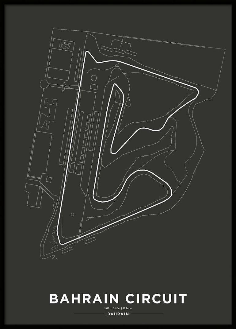 Poster, Bahrain International Circuit Formula 1 Print