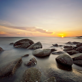 Sunset & rocks by Patto Nikonian - Landscapes Sunsets & Sunrises