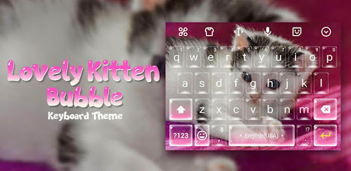Lovely Kitten Bubble Keyboard Theme for Snapchat app (apk) free download for Android/PC/Windows screenshot