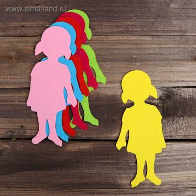 Основа для творчества и декорирования «Девочка», набор 2 шт., цвета МИКС