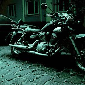 bike by Lorant K. Racz - Transportation Motorcycles ( motorcycle bike snow winter )