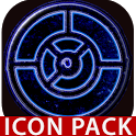 OUTLINE BLUE icon pack black icon