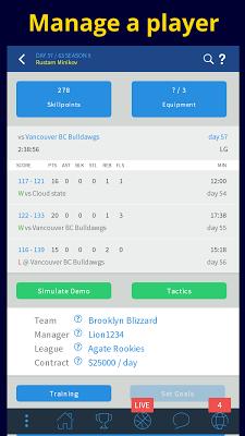 CyberDunk 2 Basketball Manager - screenshot