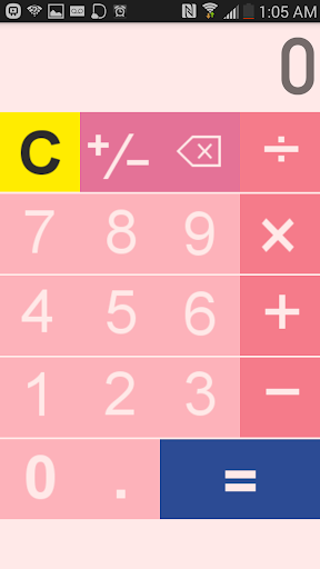 Simple Pink Calculator