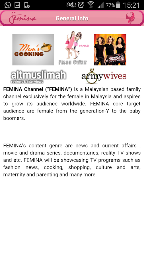 FeminaTV- screenshot