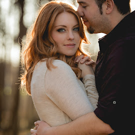 Gorgeous Red Head by Jimmy James - People Couples ( redhead, love, engagement, gorgeous, model )