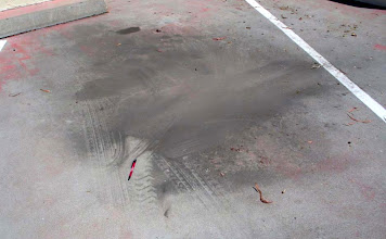 Photo: Airborne Traffic Dust Fallout Upper Deck Car Park