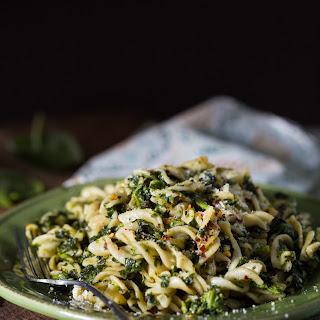 Gluten Free Spinach Pesto Pasta