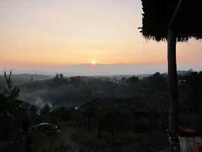Photo: Sunset over the village