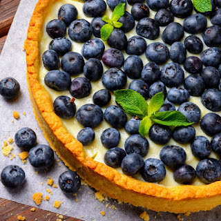 Lemon Ginger Blueberry Tart