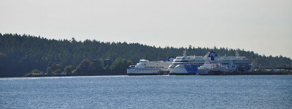 Photo: BC Ferries provide transportation services between Vancouver Island and the mainland of BC, as well as service to some of the smaller islands along the coast. This is the Departure Bay ferry terminal in Nanaimo BC