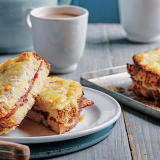 Eggy Bread Bacon And Cheese Sarnie.