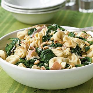 Pasta with Prosciutto and Spinach