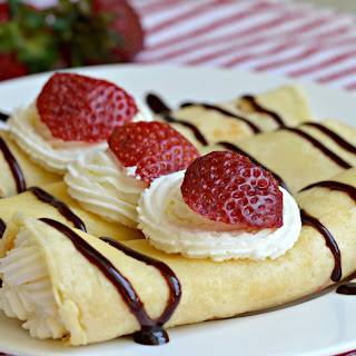 Sweet Breakfast Crepes + White Chocolate Whipped Cream