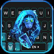 Blue Ghost Mask Keyboard Theme