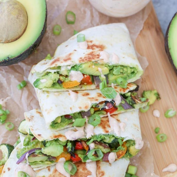Grilled Vegetable Avocado Quesadillas