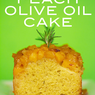 Peach and Rosemary Olive Oil Cake with Golden Balsamic Vinegar