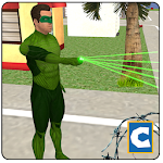 Green Ring Hero Crime Battle Icon