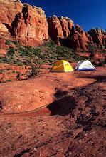 Photo: Camp on the Red Rocks, near Sedona, Arizona