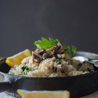 Mushroom and Baby Spinach Risotto
