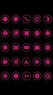 Pink On Black Icons By Arjun Arora - náhled