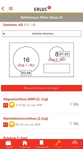 android ERLUS Profi-App Schornstein Screenshot 4